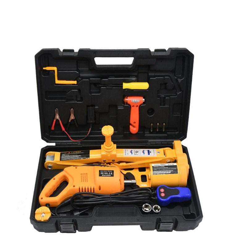 Truck lift 2 Function Electric Scissors Car Jack And impact Wrench 12-45 /  17-52 cm Electric lift