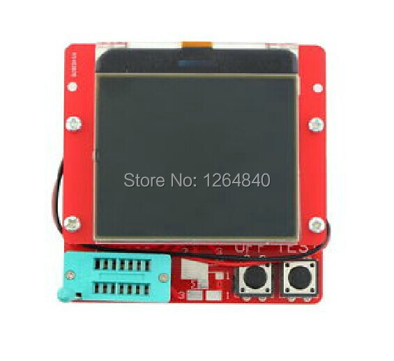 New 12864 LCD Transistor Tester Capacitance ESR Meter Diode Triode MOS NPN LCR - KEWEIDIANZI store