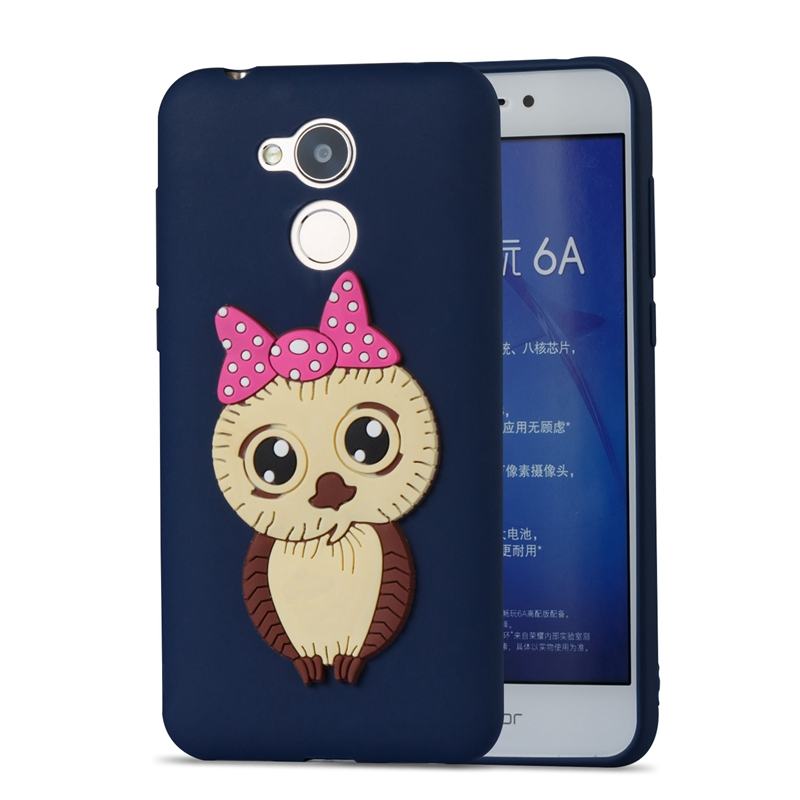 Honor 6A Case Cartoon Owl Silicon Soft Phone on for Huawei Cover 7X Pouzdro 32 64 GB