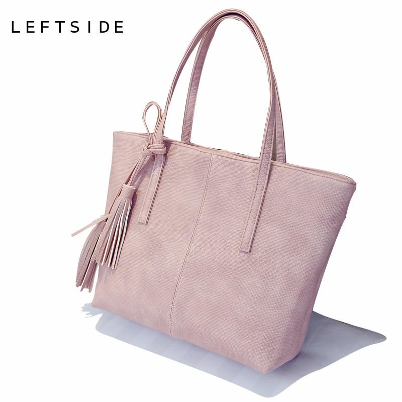 LEFTSIDE 2017 New Designer Famous Brand Tote Bag Big Shopping Bag Large Shoulder