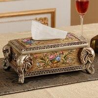 Роскошная Европейская коробка ткани слона Обои для рабочего стола американская Ретро средиземноморская коробка для салфеток