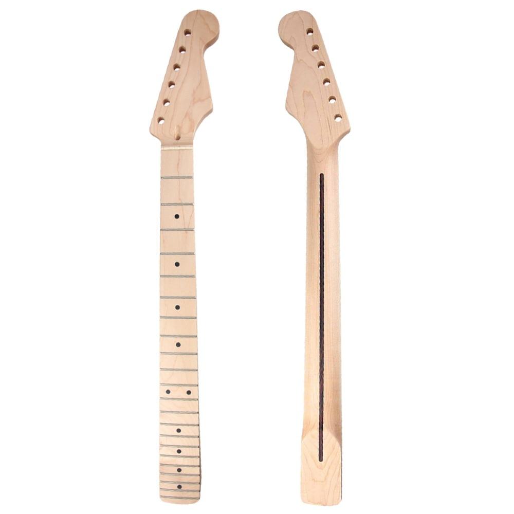 Kmise guitarra eléctrica cuello Canadá Arce 22 te preocupes claro de perno en la guitarra de piezas de repuesto accesorios de bricolaje