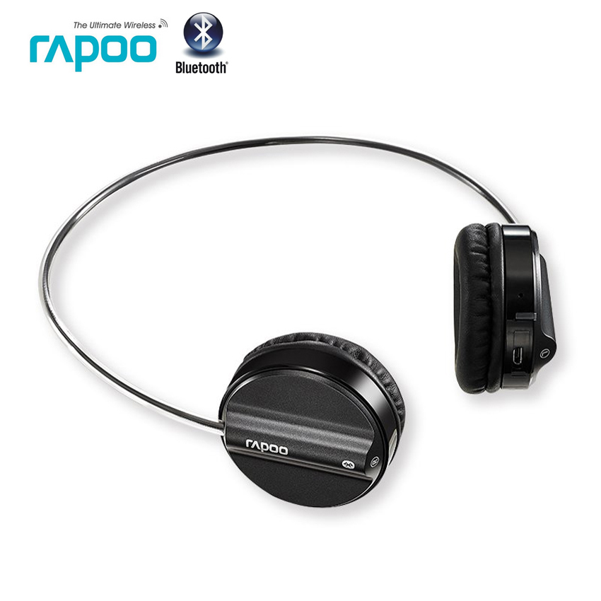 Rapoo Bluetooth 4.1 Stereo Headset Steel Headband Headphone Fashion HiFi Wireless Headphones With MIC For Smart phone PC