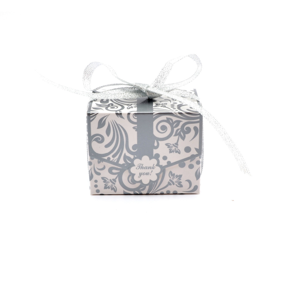 100pcs Wedding Chocolate Box With Free Ribbon Candy Box Wedding ...