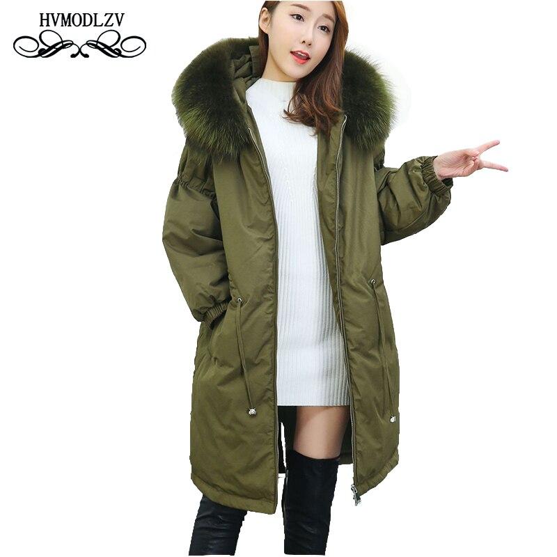 2018 Winter New Plus size Long   Down   Jacket women casacas para mujer Fashion Hooded Thick   down     coat   Sobretudo female parka lj035