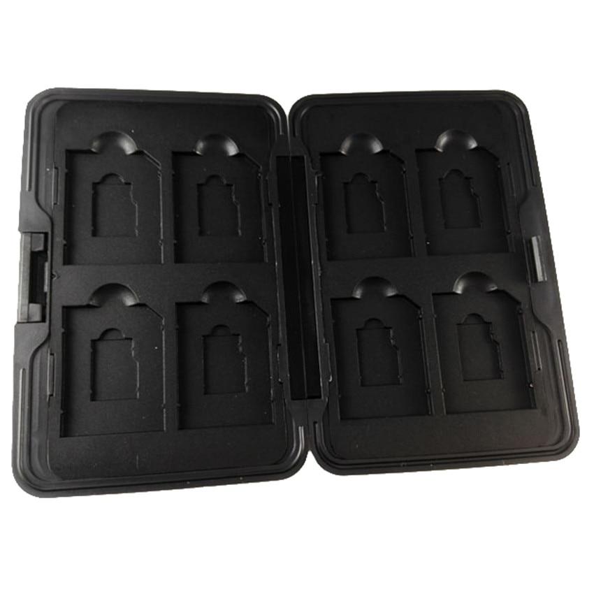 TOFOCO Silver Micro SD Card Holder SDXC Storage Holder Memory Card Case Protector Aluminum 16 Slots For SD/ SDHC/ SDXC/Micro SD