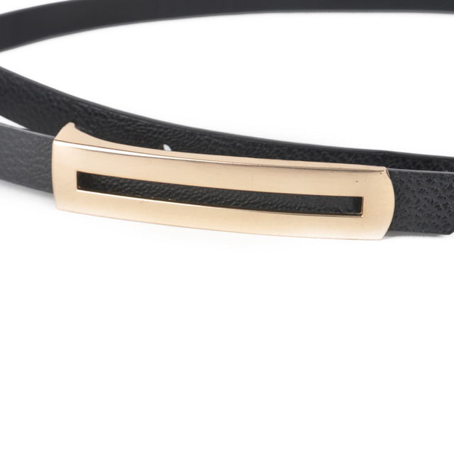 Luxury Minimalist Buckle Thin Belt
