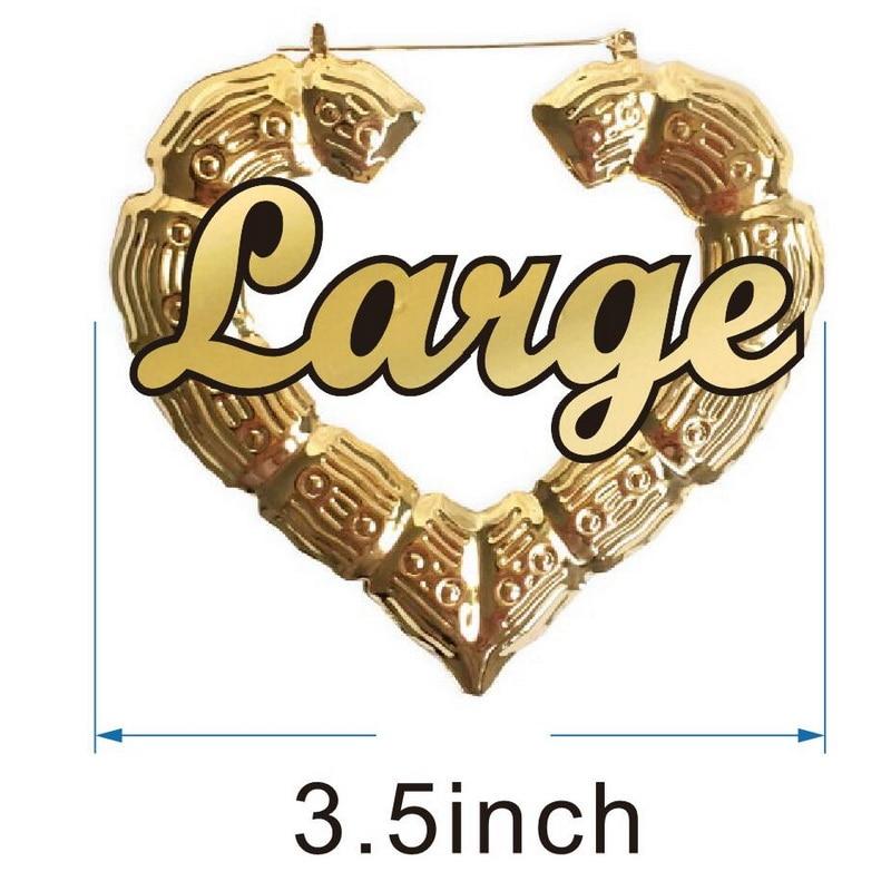 3.5inch gold heart
