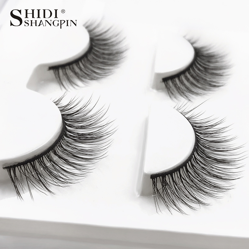 HTB1ibljXIfrK1RjSszcq6xGGFXa0 SHIDISHANGPIN 3 pairs mink eyelashes natural fake eye lashes make up handmade 3d mink lashes false lash volume eyelash extension