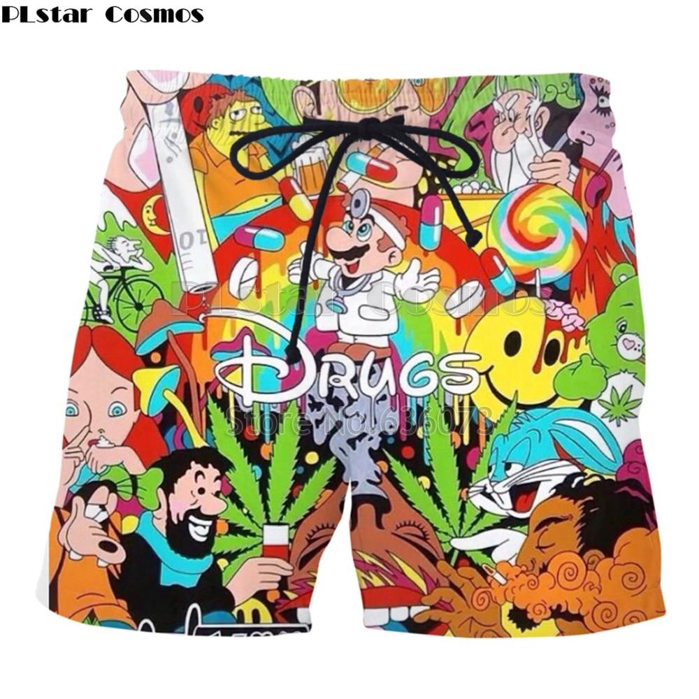 PLstar Cosmos Drop Shipping  Summer New Style Fashion Shorts Cartoon Super Mario 3D Print Funny Weeds Shorts