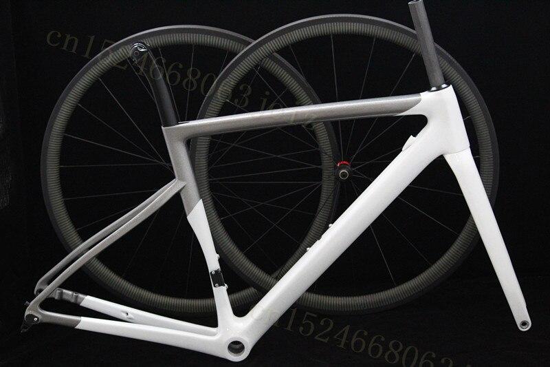 700C Disc Disk Axle 142*12 Carbon Road Frame Carbon Road Bike Bicycle Frame Road Bike Bicycle Frameset Cyclocross Wheels+Frame