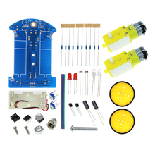 High Quality D2-1 Line Patrol Car Parts Manufacturing Electronic Science and Technology DIY Telligent Tracking Auto Kit