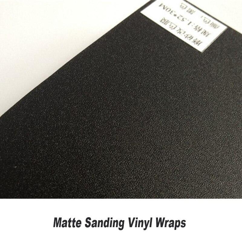 Autocollant de vinyle de voiture de vinyle de visage de ponçage noir mat mat avec le ponçage classique bulles d'air de ponçage avec la taille: 5ft X 98ft/Roll