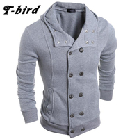 T Bird Hoodie Men Cardigan Button Hoodie Hip Hop Male Sweatshirt 2017 Fashion Men Autumn Winter