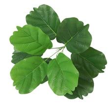 1pc Artificial Flower Green Leaf Plastic Plant Simulation Fake Foliage Bush For Home Wedding Decoration Party Supplies 42cm