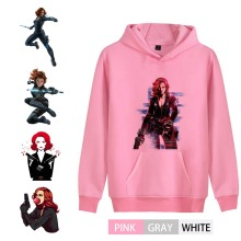 BlackWidow Marvel Superhero Illustration Trendy Men/woman Outfit Hoodie Kangaroo Pocket Winter Unisex Activewear A193291