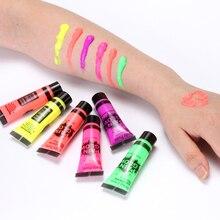 Neon Fluorescent Non-Toxic Body Art Paint 5 pcs Set