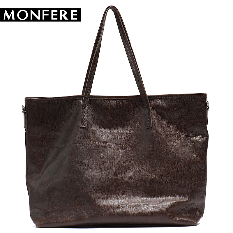 MONFRE Luxury Handbags Women Bags Designer Bags For Women 2018 Fashion Cow Leather Tote Bags Handbag Female Vintage Shoulder Bag luxury brand women s genuine leather handbags for women bag designer vintage soft cow brown messenger shoulder bags female tote