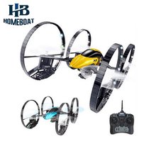 JJRC H3 Drone 2.4G 4CH 6-Axis Gyro HD 2.0MP Camera RC Quadcopter with Air-ground Amphibious 4-Wheeled 2 in 1 With LED Lights