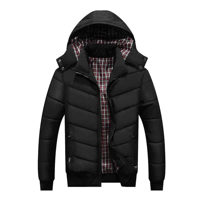 LIS ALICES 2018 新ジャケットメンズ冬のジャケットビッグサイズ M-4XL 新到着カジュアルスリム綿フード付きパーカー Casaco masculino
