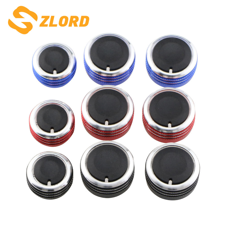 3Pcs/Set Air Condition Heat Control Switch Knob AC Knob for <font><b>VW</b></font> Jetta MK6 Bora Golf 5 Tiguan <font><b>Touran</b></font> Passta B6 B7 Skoda Octavia image