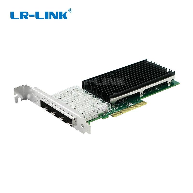 LR-LINK 9804BF-4SFP + quad port 10 gb adaptateur ethernet pci-express fiber optique carte réseau nic INTEL XL710 Compatible XXV710-DA1