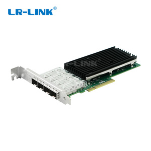 Image 1 - LR LINK 9804BF 4SFP+ quad port 10gb ethernet adapter PCI Express fiber optic network card nic INTEL XL710 Compatible XXV710 DA1