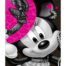Full Round/square Cartoon Mickey Mouse 5D DIY diamond painting embroidery pattern 3d cross stitch kits wedding room decor(China)