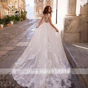 Image 2 - Odpinany pociąg suknia ślubna 2020 Sexy 2 w 1 syrenka Swanskirt aplikacje koronki kryształowy pas suknia ślubna vestido de noiva LZ07