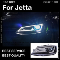 AKD Car Styling for VW Jetta Headlights 2011 2018 Jetta mk6 mk7 LED Headlight A5 Design Led Drl Hid Bi Xenon Auto Accessories