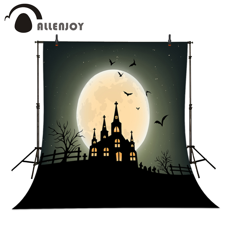 Allenjoy Photographic backdrop Bird Church Cemetery Moon Party Children Cute Halloween Photocall backgrounds for photo studio new original 516 300 s335 s4 d warranty for two year