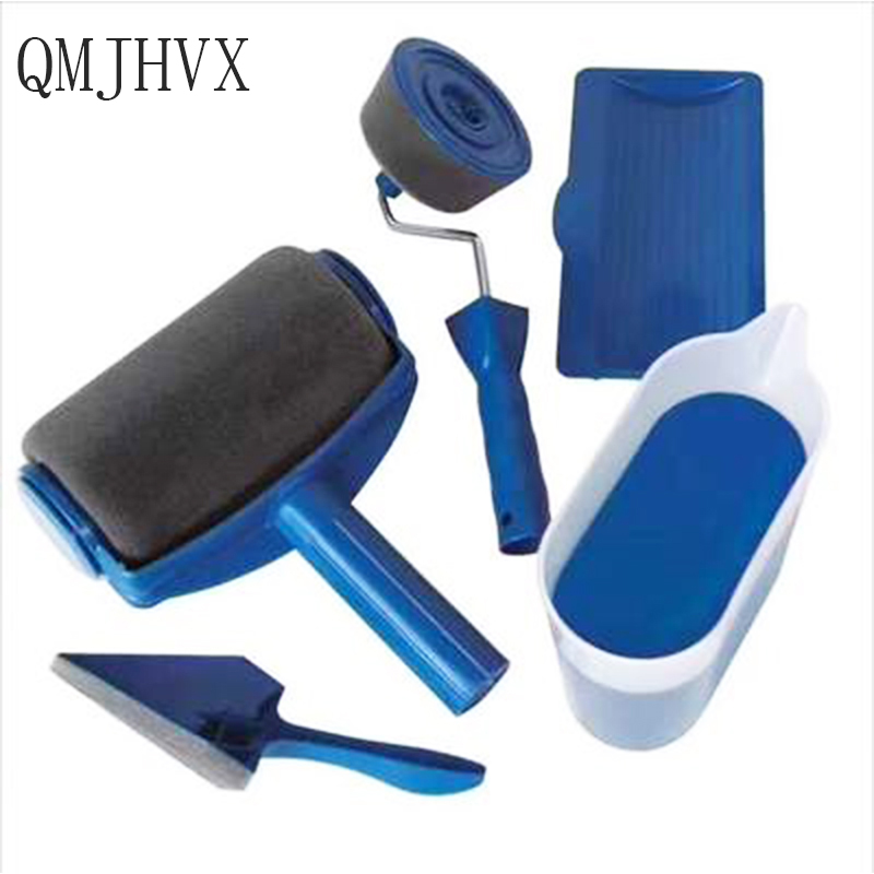 NEW DIYPaint Runner rollers for painting walls Home Garden Tool Flocked Edger Roller Paint Brush Set Office Room wall decoration makeup organizer box