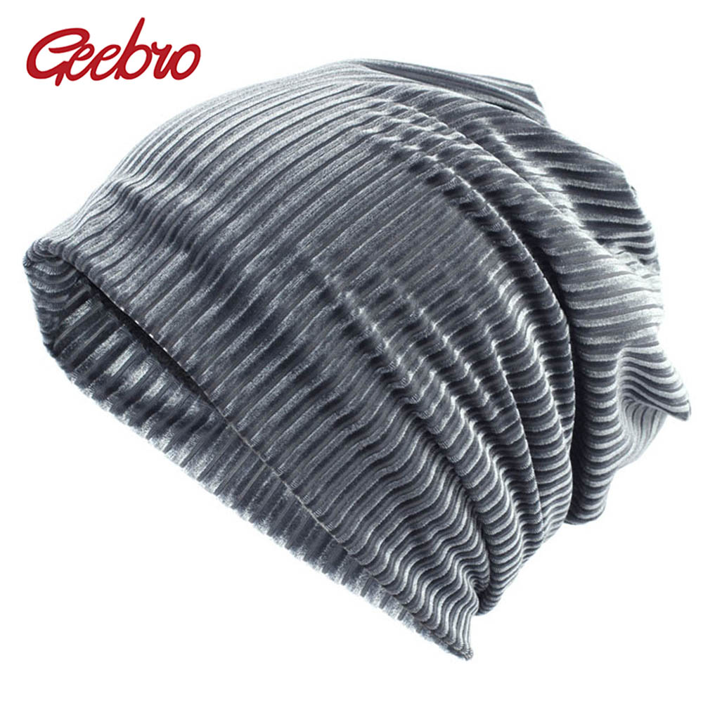 Geebro Brand New Unisex Thick Slouchy   Beanie   Winter Polyester Ribbed   Skullies     Beanies   for Women and Men Balaclava Bonnet Hat