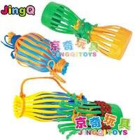 JingQi plastic toy baby birthday gift basket shape hand work building block educational blocks1 bag free shipping