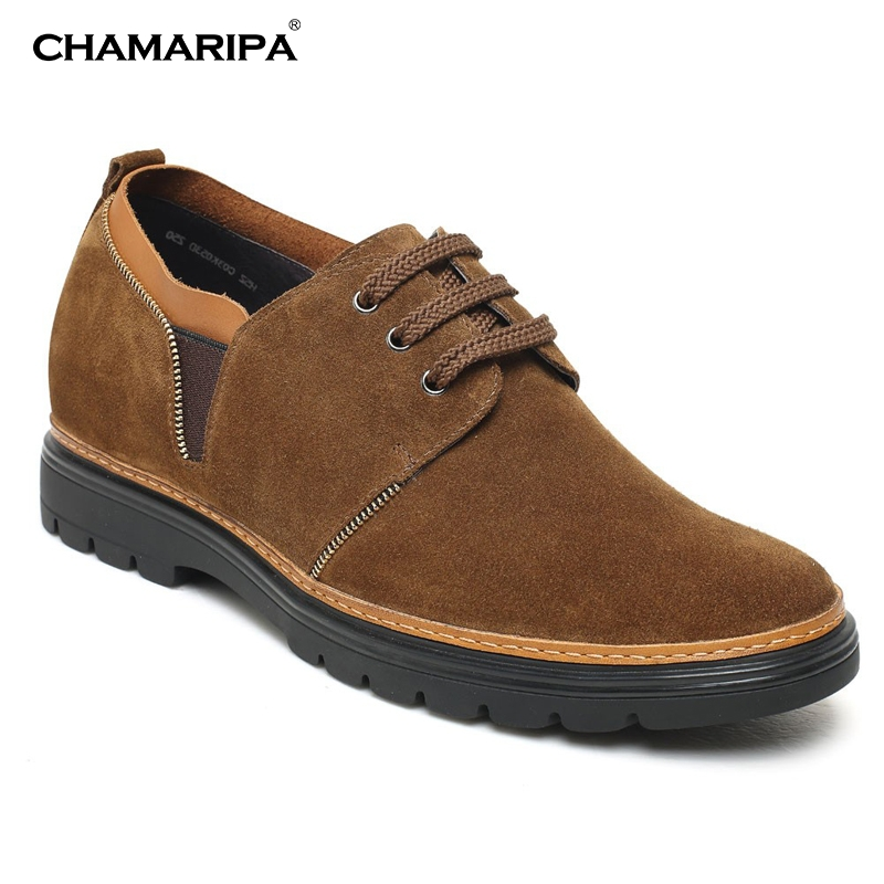 CHAMARIPA Men Elevator Shoe Increase Height 7cm/2.76 inch Man New  Spring Shoes Canvas Men Casual Shoes Breathable Round Flats new arrival 2015 casual men calf leather shoes handmade high top leather elevator shoes internal height increase shoe 6 5cm