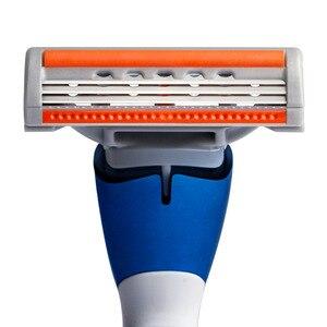 Image 5 - Maszynka do golenia QShave Blue Men może zaprojektować twoje imię i nazwisko na uchwycie, 1 rączce i 10 wkładach (ostrze 1 szt. X3, ostrze 9 szt. X5)