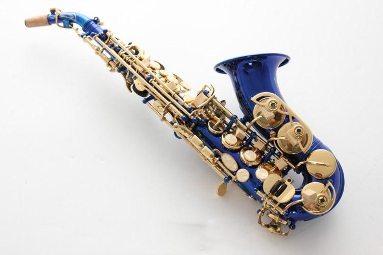 Blue Brands Soprano Sax Bb Tom Quality Brass Sax Super Professional Mouthpiece Soprano Saxophone With Case Professional brand new france henri selmer soprano saxophone 80 black nickel gold sax mouthpiece with case and accessories