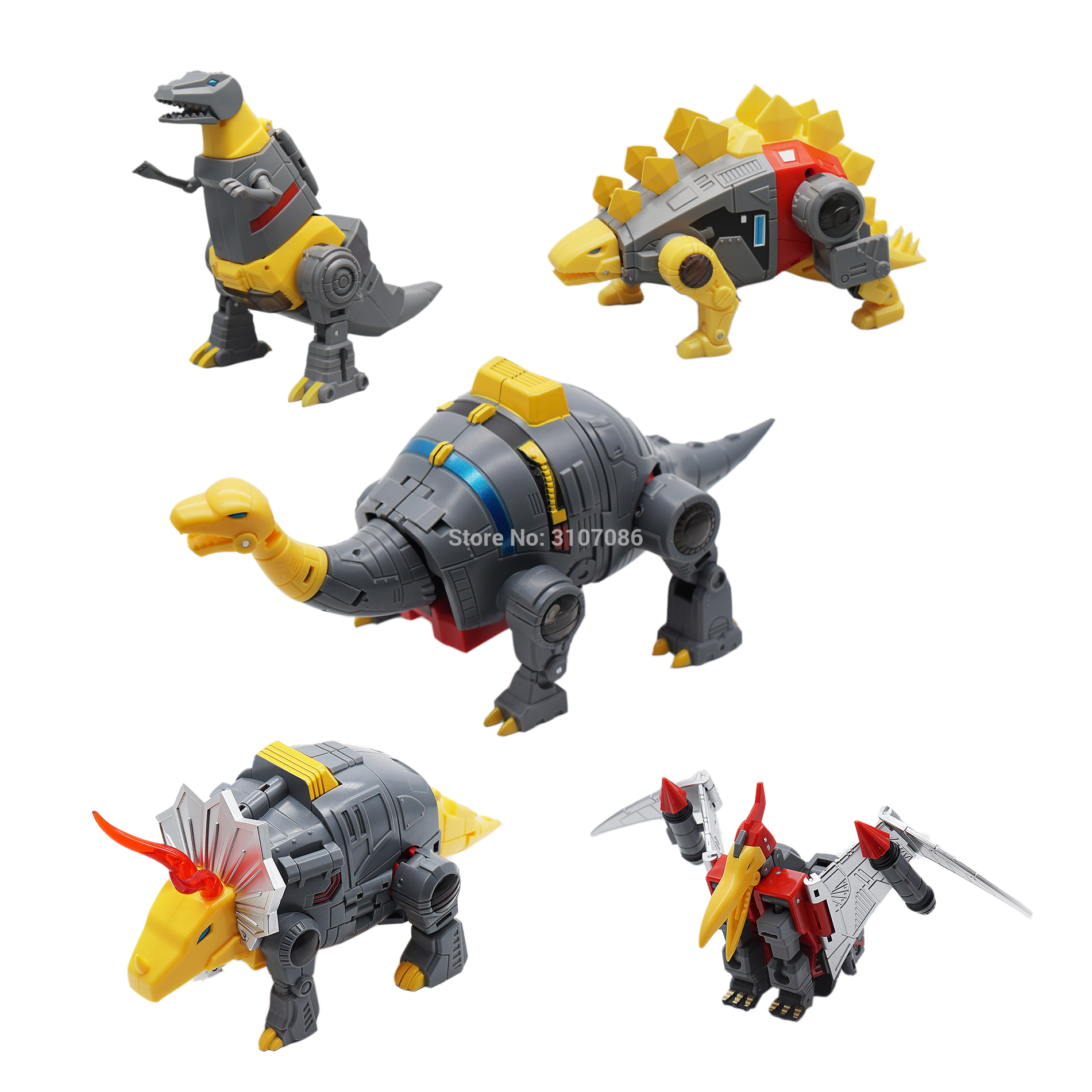 MFT Transformation Dinosaur G1 Animation Color Sludge Swoop Slag Snarl Grimlock  MF 21 MF 21 22 23 24 25 Dinobot Figure Toys-in Action & Toy Figures from Toys & Hobbies