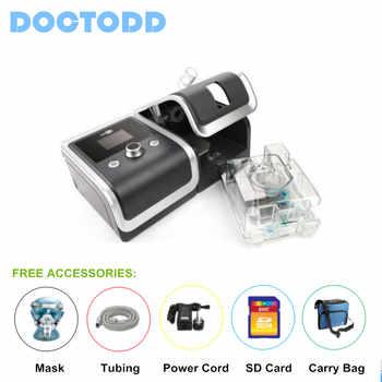 Doctod GII CPAP CE FDA Anti Snoring CPAP respirador ventilador para la Apnea del sueño OSAHS Snoring personas con piezas tarjeta SD de 4 GB