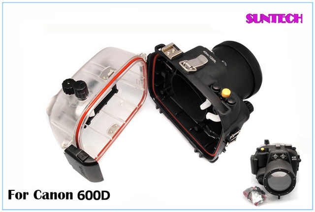 2014 Free shipping hotest waterproof case Diving Camera shell for Canon 600D underwater case bag