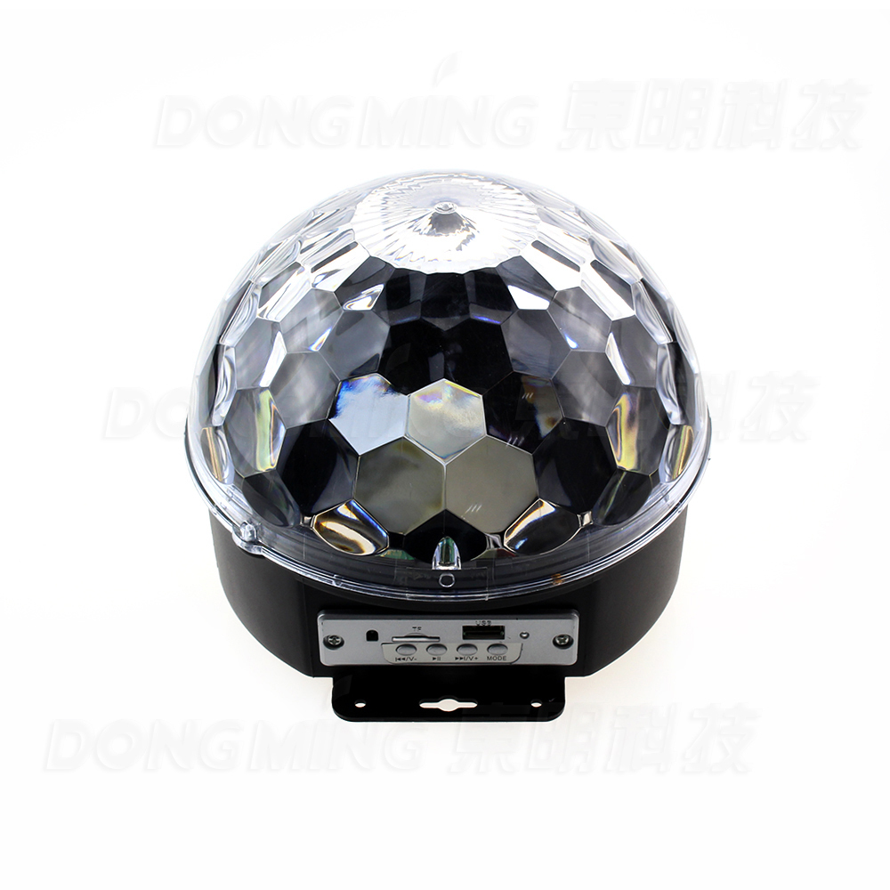 Music Crystal Magic Ball RGB LED Stage Lights For Party, Disco, Nightclub with Remote,5pcs/lot Free Shipping