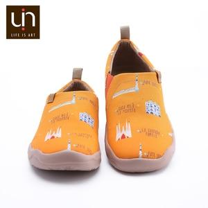 Image 3 - UIN baskets en toile pour hommes, baskets en Design de ville peint, facile à enfiler, respirantes, chaussures de voyage, chaussures décontractées