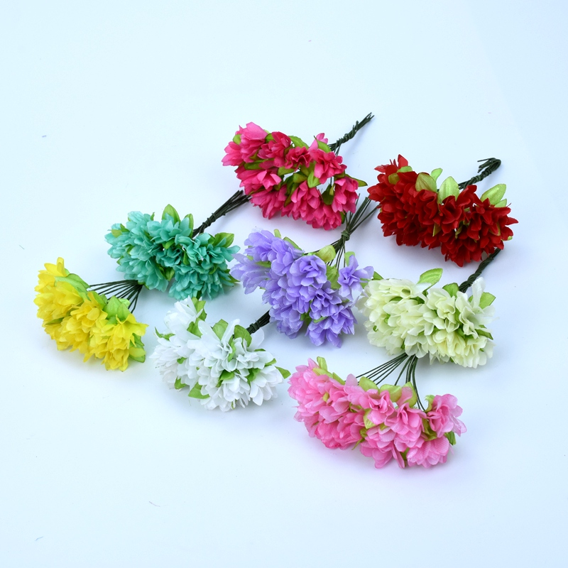 12 Pieces Artificial flowers for decoration decorative flowers wreaths home wedding bridal accessories clearance scrapbooking