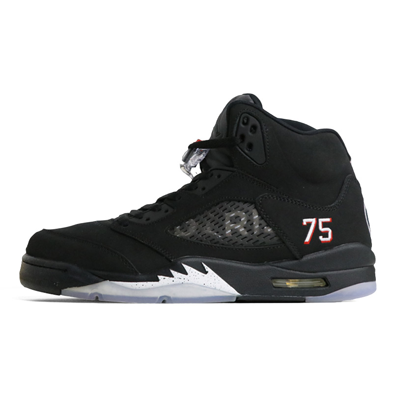 Jordan Retro 5 OG Black Metallic Silver PSG bred Men Basketball Shoes Red  Blue Suede Sports 20e712ffabcf