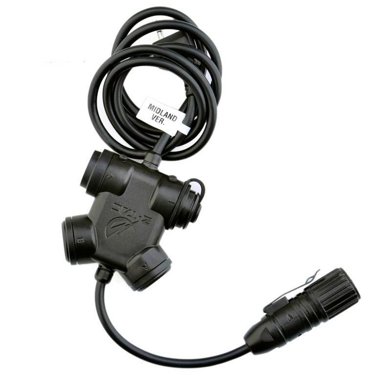 Tactical Headset Adapter Zubehör Intercom Headset PTT Taste Schalter 7 Version Z130
