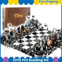 Шт. 2275 шт. волшебный замок гигантский коллекция шахмат Рыцари царств 16019 модель здания Конструкторы собрать подарки набор совместим с Lego