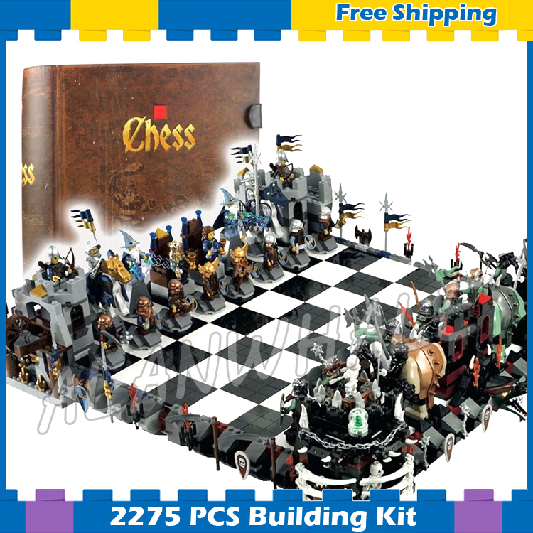 2275pcs Magic Castle Giant Chess Collection Knights Kingdoms 16019 Model Building Blocks Assemble Gifts set Compatible With Lego