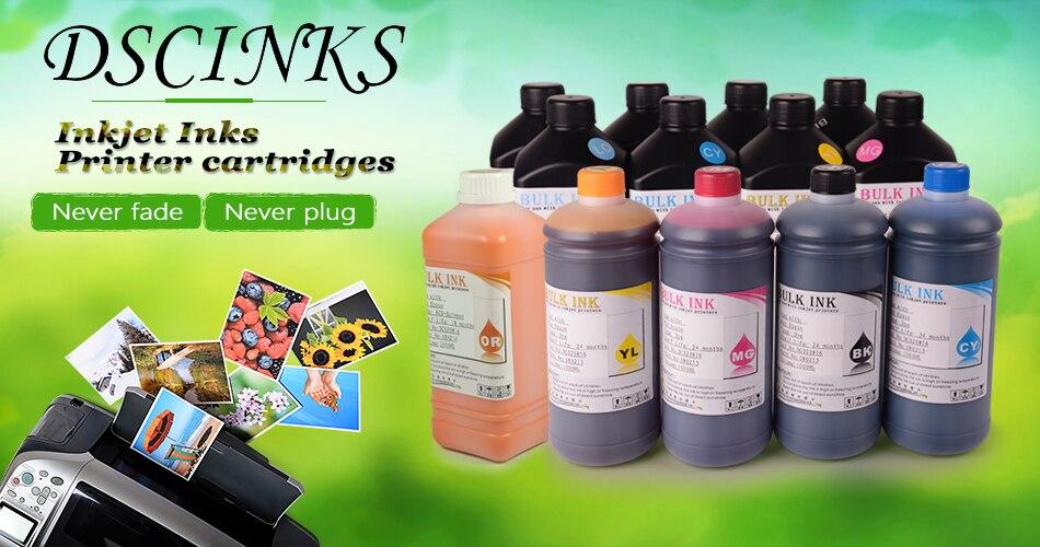 1000ML garrafa cor de tinta UV Led