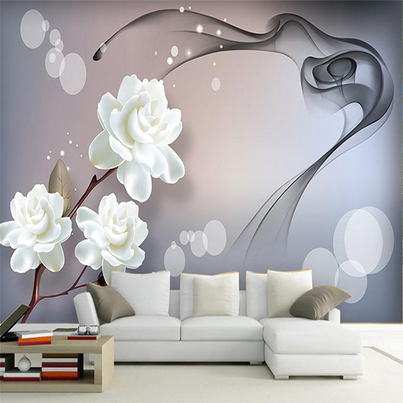 Tapetenmuster wohnzimmer blumen  Online Get Cheap Weiß Blumen Tapete -Aliexpress.com ...