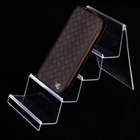Wholesale 3pcs Plastic Multifunctional Clear View Wallet Phone Display Stand Card Holder Rack 4 Layers